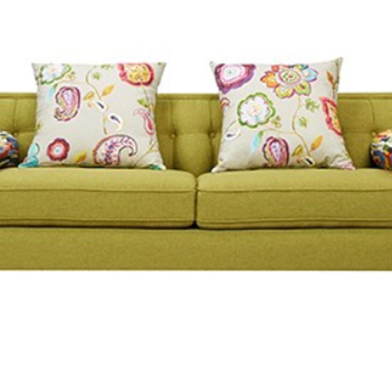 Corner Chesterfield Sofa Sale: Fabric Wooden Chesterfield Sofa Lime Green