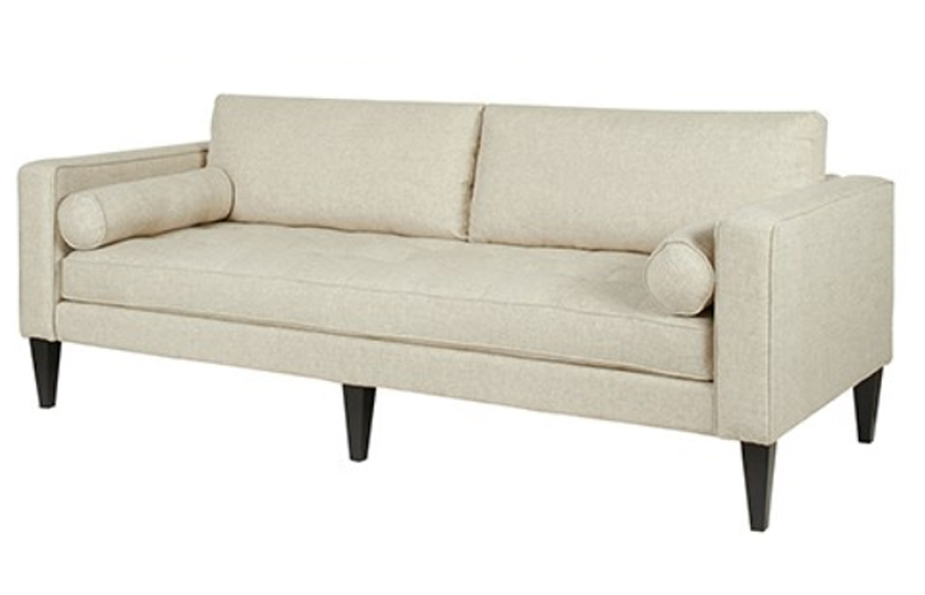 Fabric Wooden Chesterfield Sofa Wood Ash Comfychest165