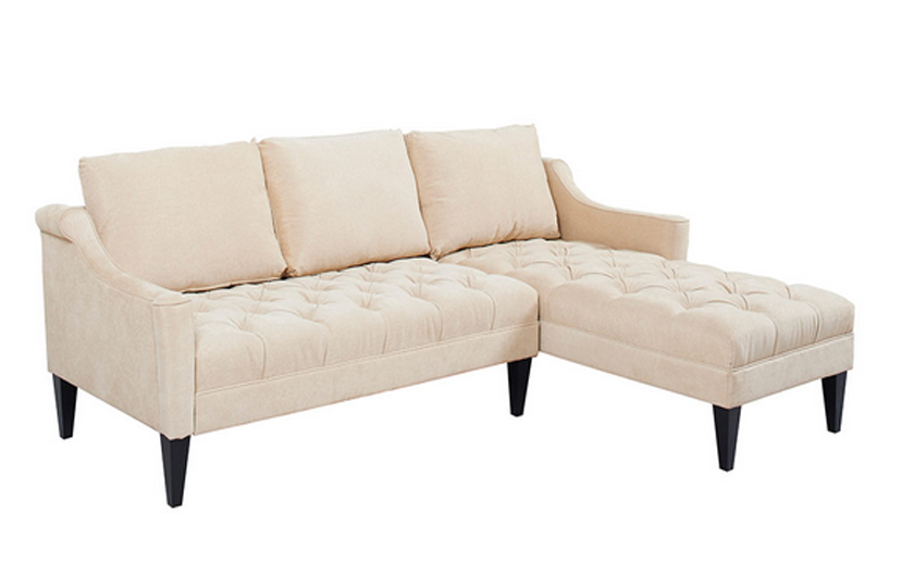 Wooden Fabric Corner Sofa Cream Comfychest179 Comfyland