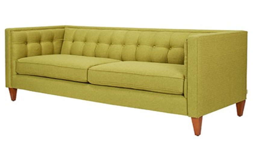 Fabric Wooden Chesterfield Sofa Lime Green u2013 Comfychest173 ComfyLand