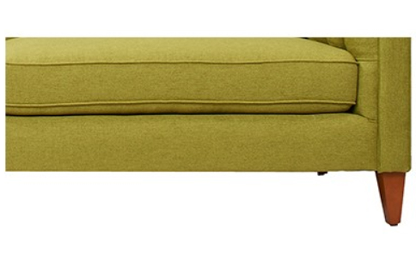 Fabric Wooden Chesterfield Sofa Lime Green