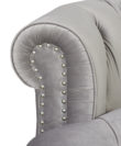 Fabric Wooden Chesterfield Velvet Sofa - Opal Grey - Comfychest155