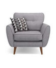 Comfubi fabric Wooden Chesterfield Sofa Chair Comfubi110-1