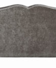 Velvet Fabric Wooden Sofa - Grey - Comfycurv140