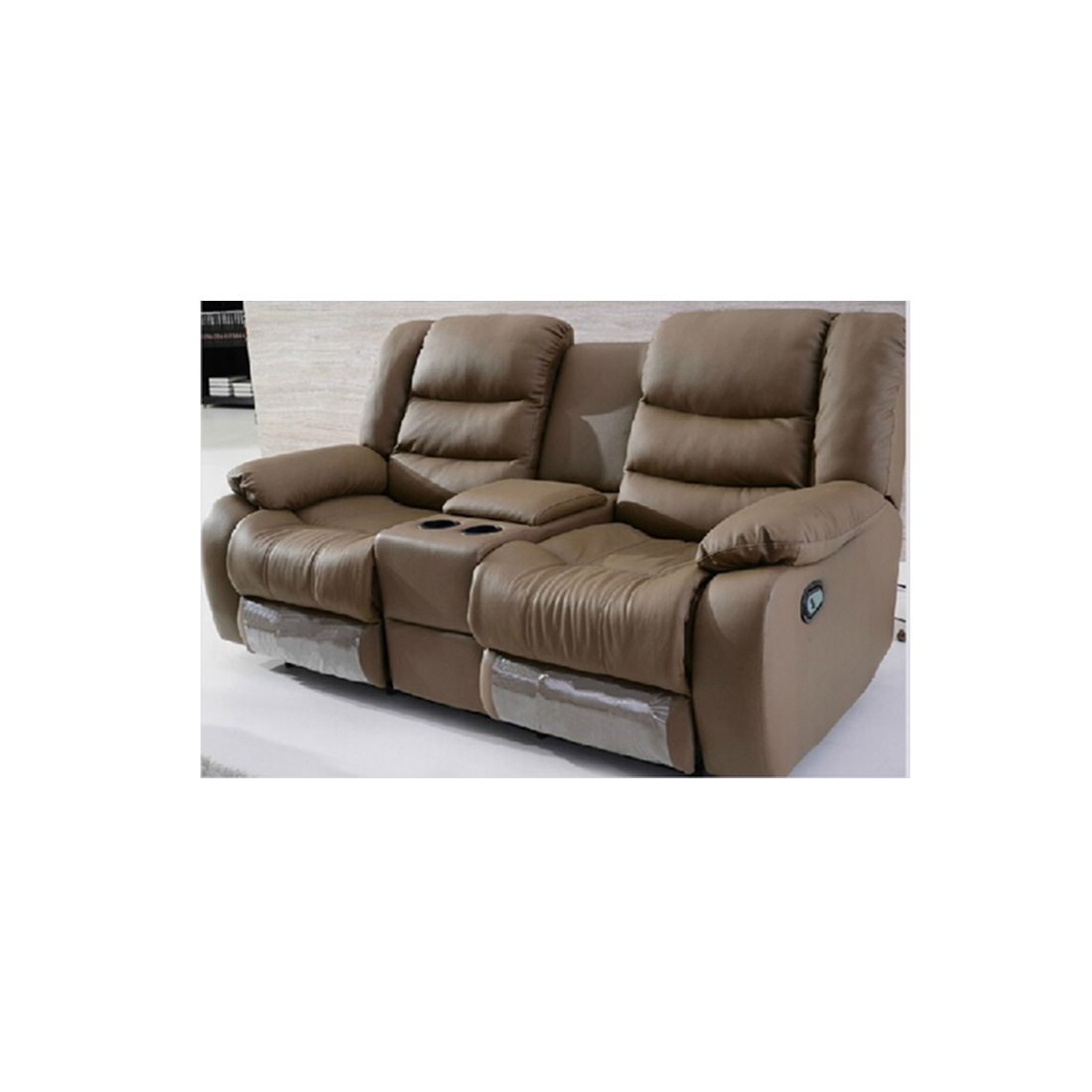Yamas Recliner Leather Sofa With Cupholders Comfyland ~ Recliner Leather Sofa Deals