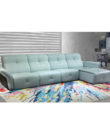 Dunsco - Manual Recliner Left Corner Leather Sofa