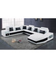 Madyam - U Shape Corner Leather Sofa